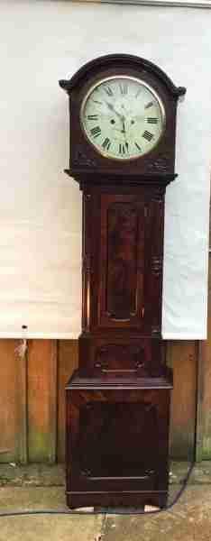 Antike britische Mahagoni Standuhr 1828