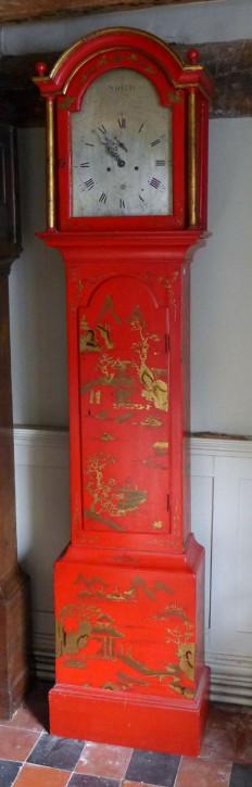 Georgianische antike Standuhr Massivholz lackiert ca 18. JH