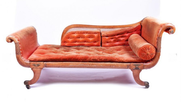Antike britische Regency Mahagoni Chaiselongue ca 1810