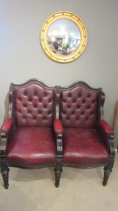 Antikes viktorianisches Leder Sofa englisch ca 1860
