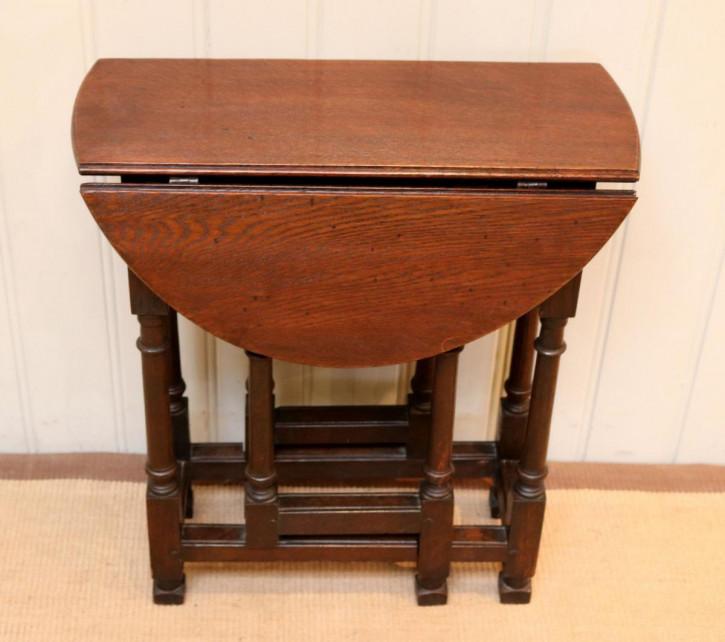 Antiker Eichen Tisch Gateleg britisch ca 1900