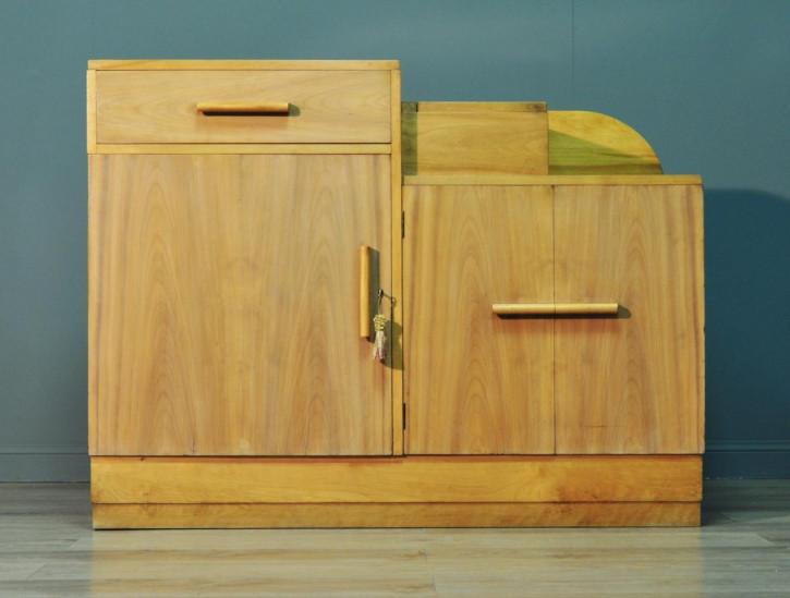 Antikes Art Deco Sideboard Nussbaum britisch ca 1930