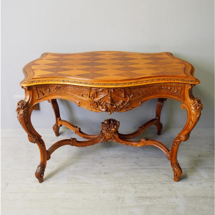 Antiker französischer Nussbaum Tisch ca 1880
