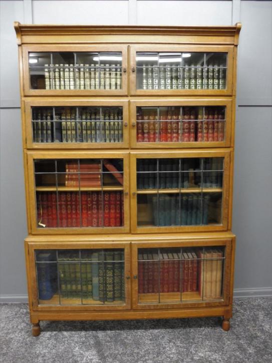 Antikes britisches Eichen Bücherregal ca 1920