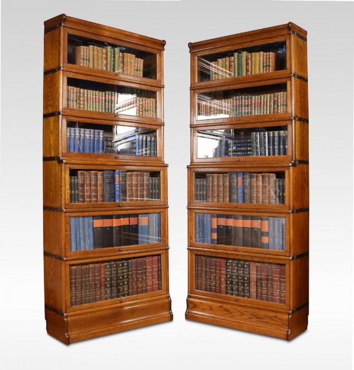 Antike britische Eichen Bücherschränke Globe Wernicke ca 1900