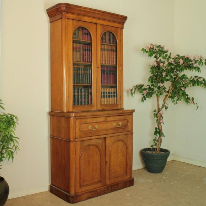 Viktorianisches antikes Eichen Bureau Bookcase englisch ca 1860