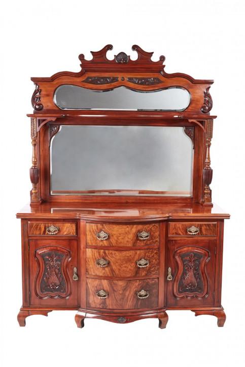 Viktorianische antikes Nussbaum Sideboard englisch ca 1880