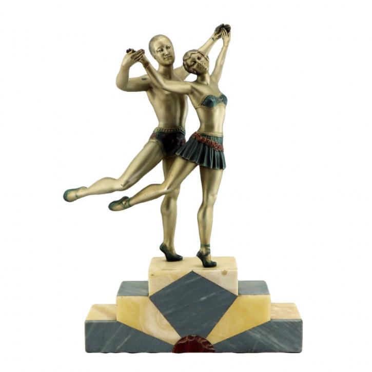 Antike Art Deco Skulptur Figur britisch ca 1930