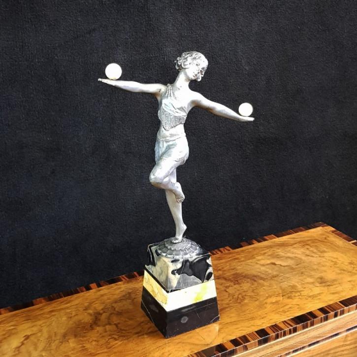 Antike britische Art Deco Figur Skulptur ca 1930