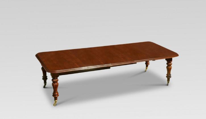 Viktorianischer antiker Mahagoni Esstisch britisch ca 1860