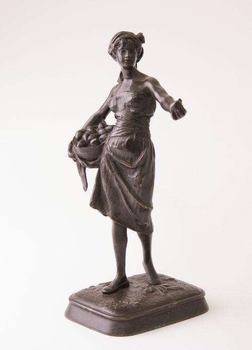Antike französische Bronzefigur Skulptur ca 19. Jh