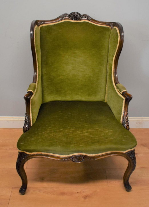 Viktorianischer antiker Mahagoni Sessel britisch ca 1860