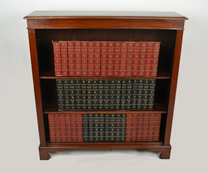 Viktorianischer antiker Mahagoni Bücherschrank britisch ca 1890