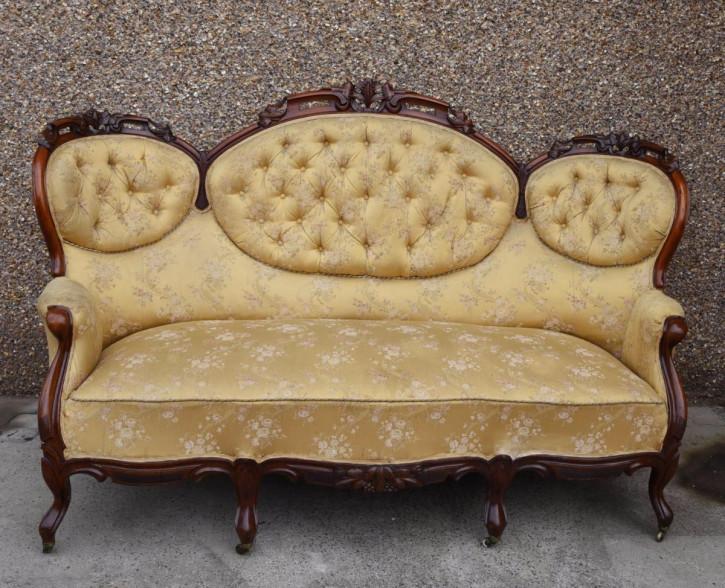 Viktorianisches Mahagoni Sofa Couch britisch antik ca 1860