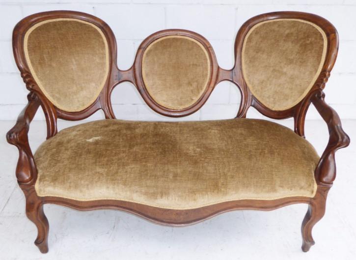 Viktorianisches antikes Palisander Sofa Couch englisch ca 1860