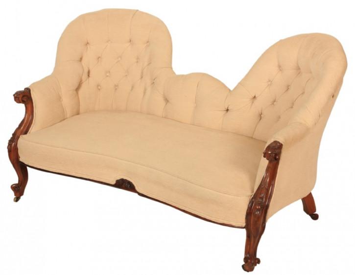 Viktorianisches antikes Mahagoni Sofa britisch Couch ca 1850