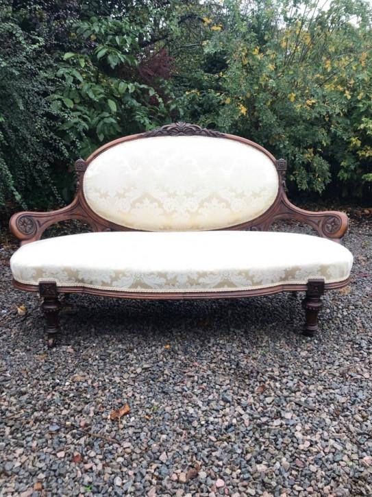 Viktorianisches antikes Sofa Stoffsofa britisch ca 1880
