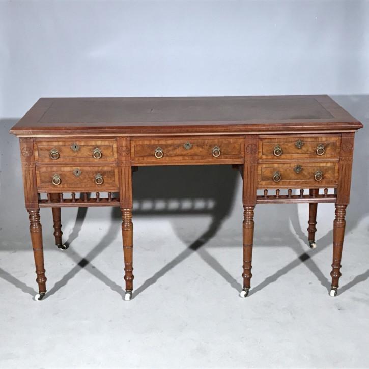 Antiker britischer Mahagoni Schreibtisch viktorianisch ca 1860