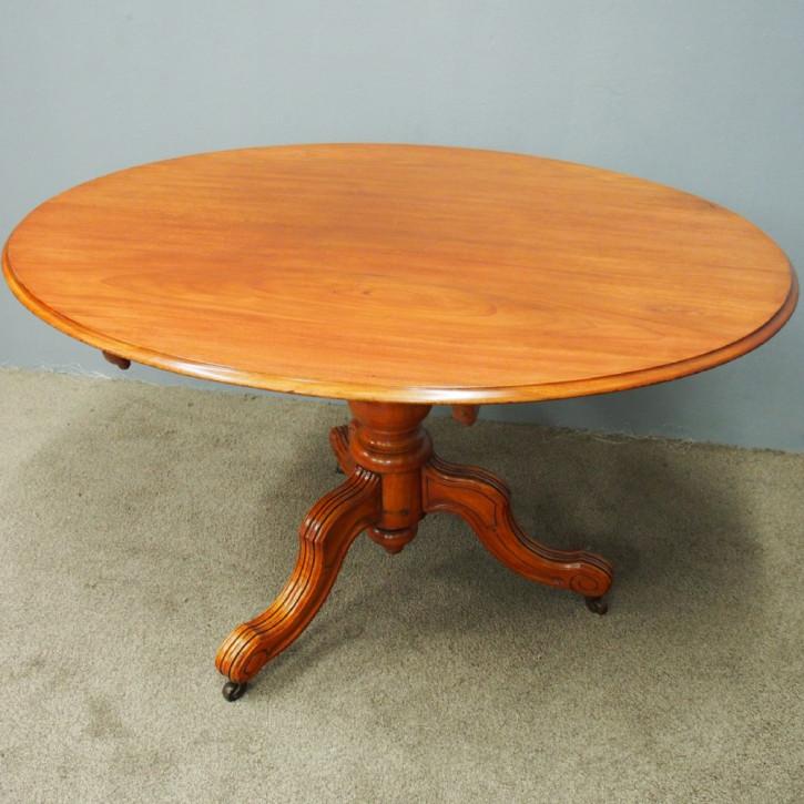 Viktorianischer antiker Mahagoni Sofatisch Breakfast Table englisch ca 1870
