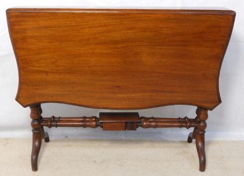 Viktorianischer antiker Dropleaf Sofatisch Mahagoni britisch ca 1840
