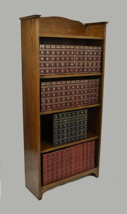 Britischer Arts & Crafts Bücherschrank Eiche antik ca 1900