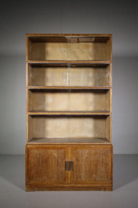 Antiker britischer Eichen Bücherschrank ca 1930