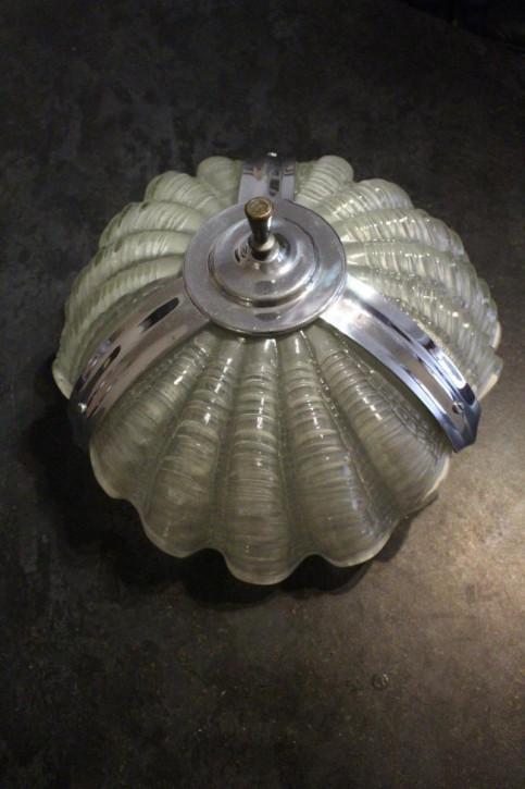 Englische Art Deco Deckenlampe Deckenleuchte opak antik ca 1920