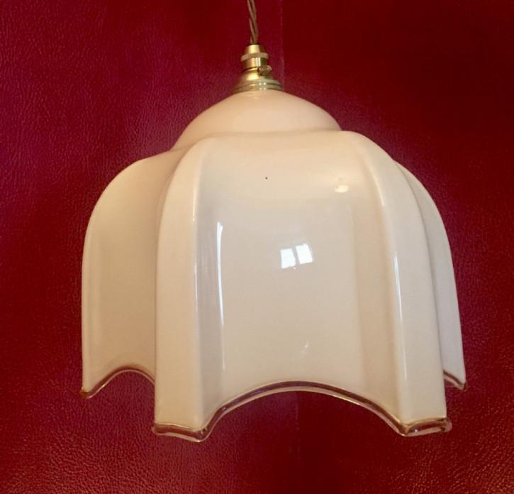 Edwardianische antike Deckenleuchte Opalin Deckenlampe englisch ca 1890