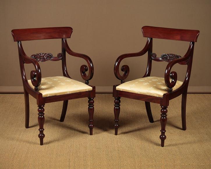 Antike britische Mahagoni Stühle ca 1830