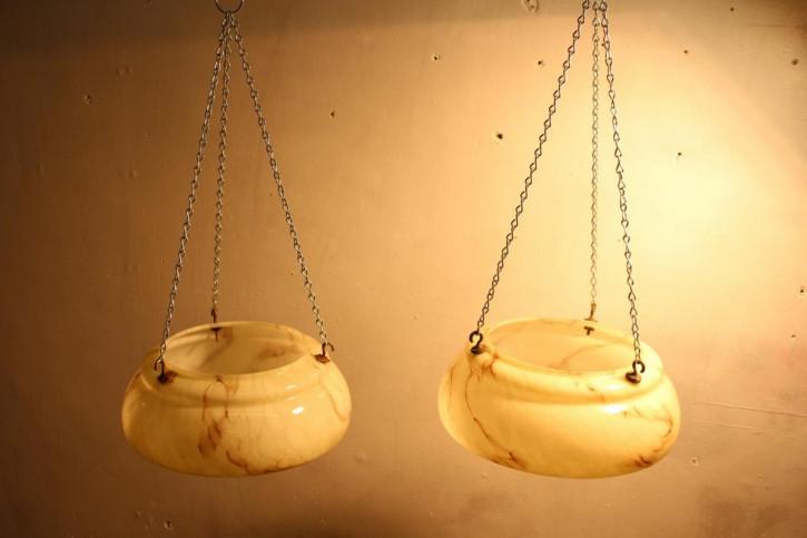 Art Deco Antikes Paar Deckenlampen englisch ca. 1930