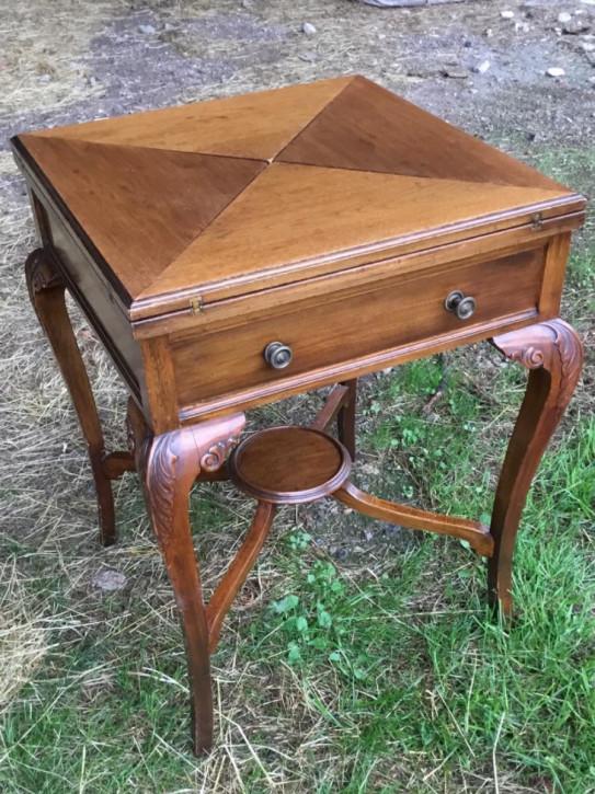 Edwardianischer Antiker Englischer Mahagoni Spieltisch ca. 1900