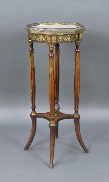 Englischer Antiker Mahagoni Tisch mit Marmorplatte ca. 1890
