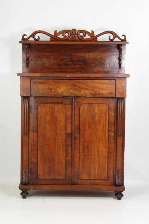 Viktorianisches Antikes Englisches Mahagoni Sideboard ca. 1850