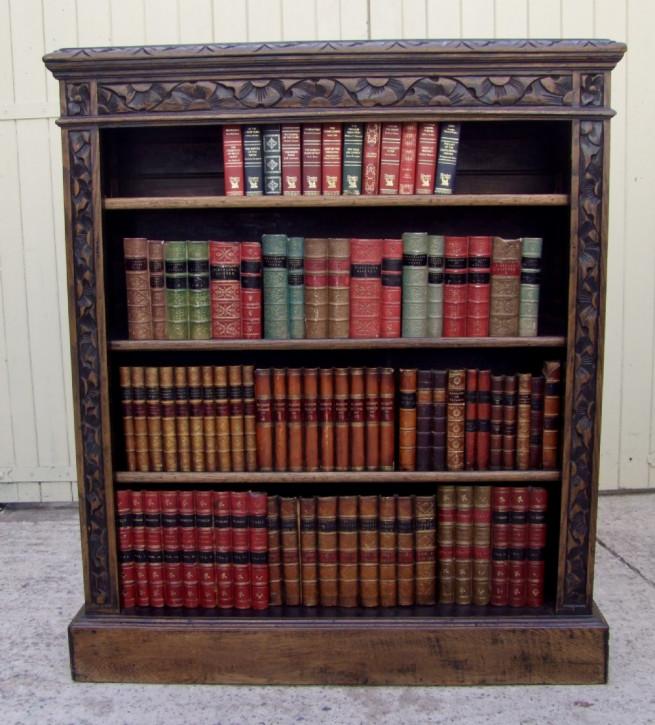Antikes britisches Eichen Bücherregal 19. Jh