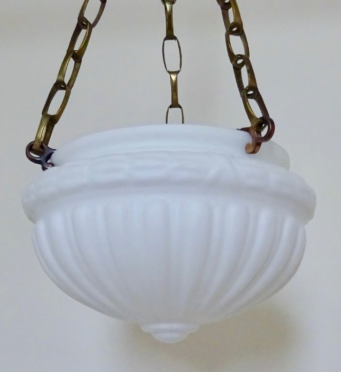 Edwardianische antike Deckenlampen Glas Hängelampen Messing britisch ca 1910