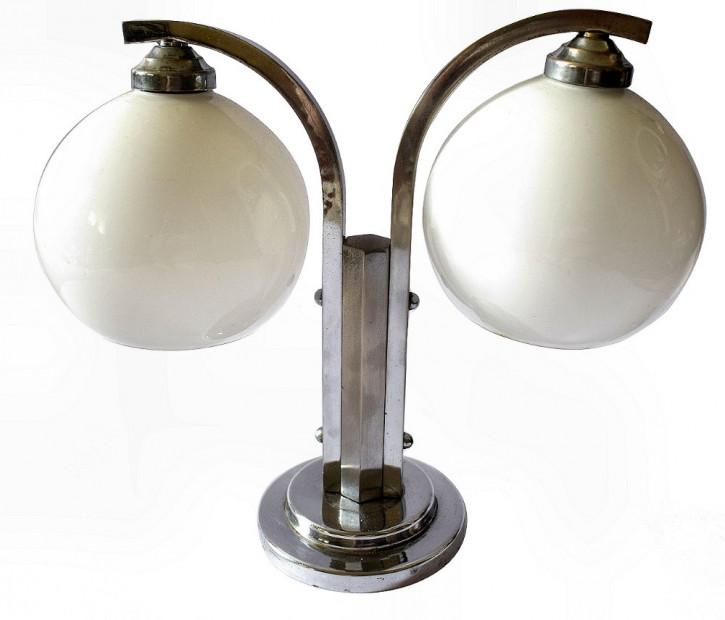 Antike Art Deco Tischlampe Chrom Tischleuchte britisch ca 1930