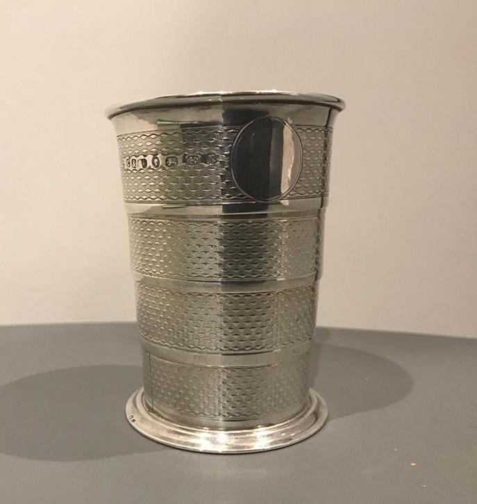 Antiker viktorianischer Silber Becher Trinkbecher englisch ca 1872