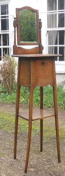 Edwardianischer antiker Frisiertisch Eiche Sideboard englisch ca 1900