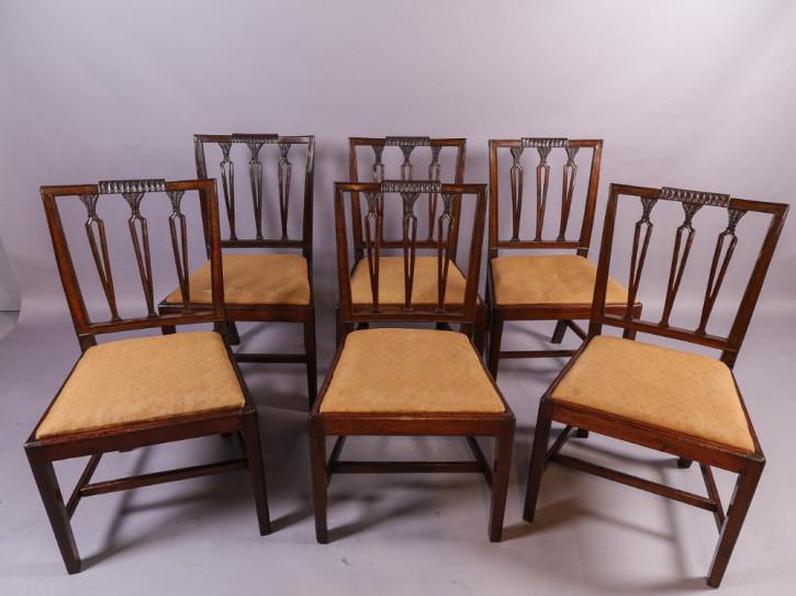 Georgianische britische Mahagoni Stühle Esszimmerstühle antik ca 1790