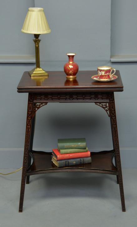 Edwardianischer antiker Mahagoni Spieltisch britisch ca 1900