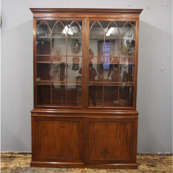 Georgianischer antiker Mahagoni Bücherschrank englisch ca 1890