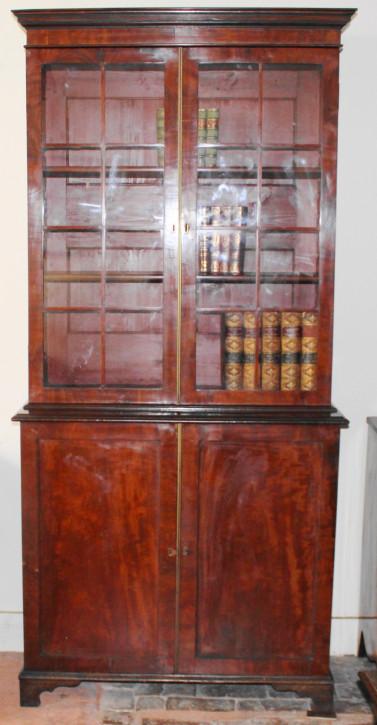 Antiker britischer Mahagoni Bücherschrank ca 19. Jh