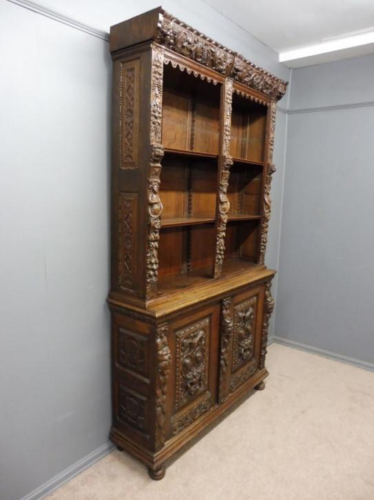 Englischer antiker Eichen Bücherschrank viktorianisch ca 1890