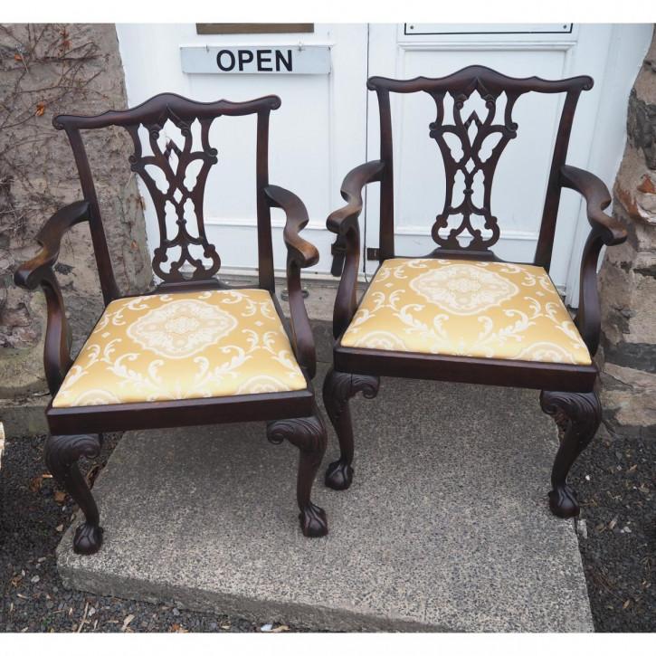 Antike britische Mahagoni Stühle Küchenstühle ca 1860