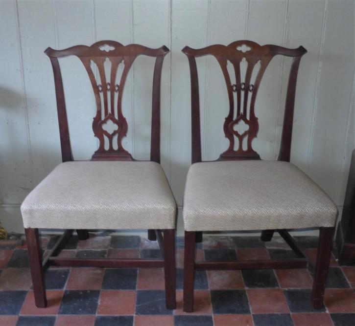 Antike georgianische Mahagoni Stühle Küchenstühle britisch ca 18. Jh
