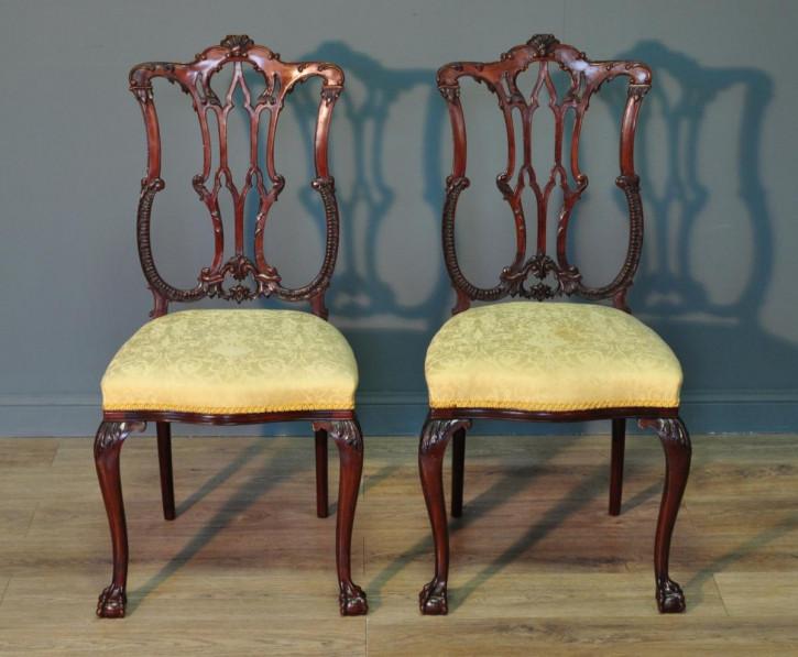 Antike edwardianische Mahagoni Stühle britisch ca 1890