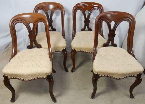Viktorianische antike Mahagoni Stühle britisch ca 1860