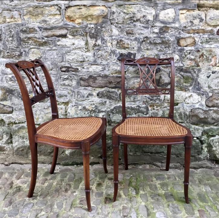 Antike britische Mahagoni Stühle ca 1890