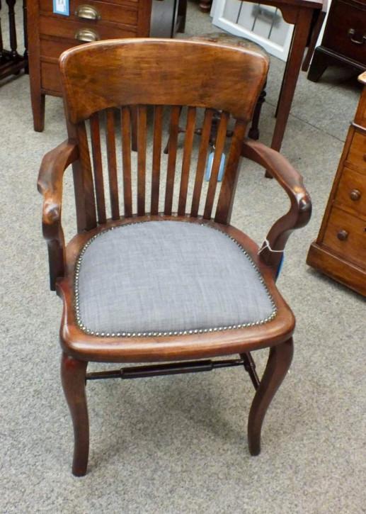 Edwardianischer antiker Schreibtisch Stuhl britisch ca 1890