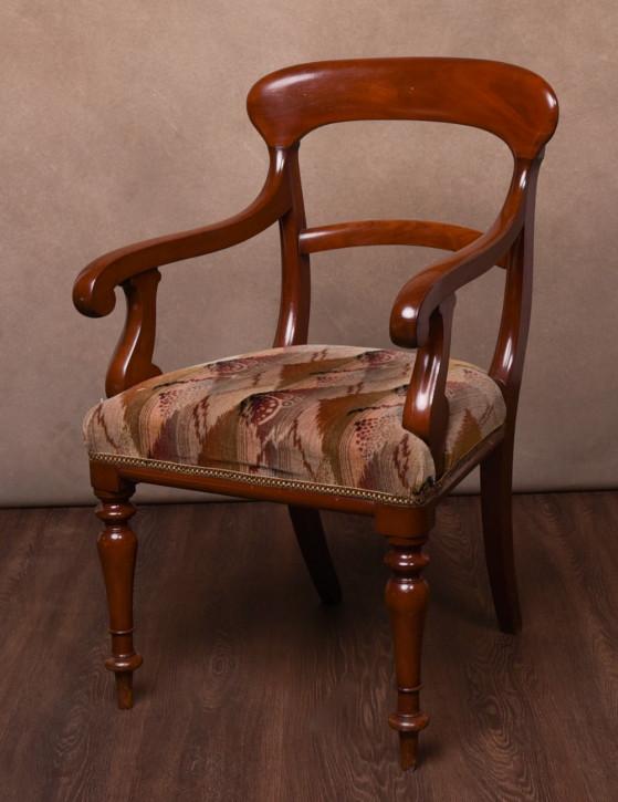 Viktorianischer antiker Mahagoni Stuhl britisch ca 1930